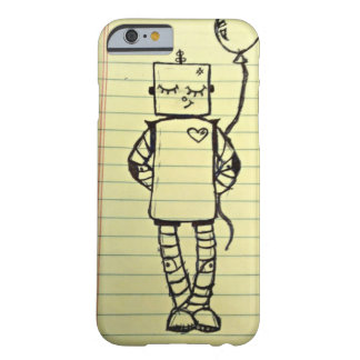Cute Yellow Notepad Robot iPhone 6 Case