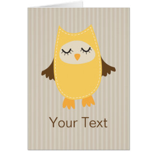 Cute Yellow Owl Card