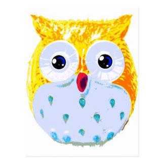 Cute Yellow Owl Postcard