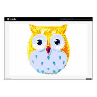 Cute Yellow Owl Laptop Decals