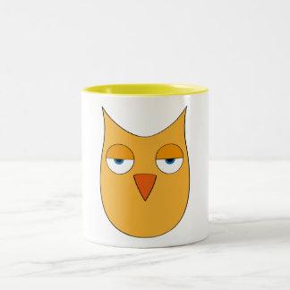 Cute yellow Owl - So what? Coffee Mug