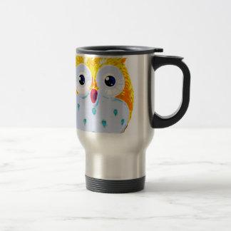 Cute Yellow Owl Travel Mug