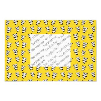 Cute yellow panda pattern photo