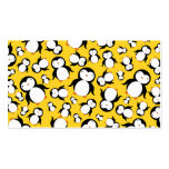 Cute yellow penguin pattern business cards