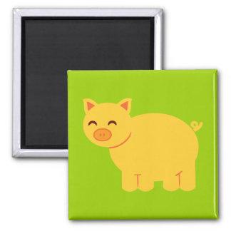 Cute Yellow Piggy Magnet