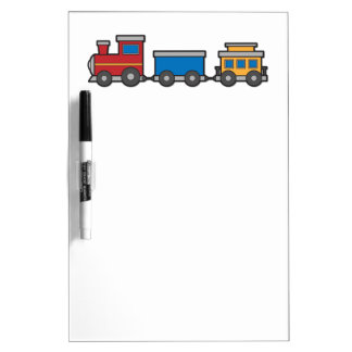 Cute yellow red blue toy train custom Dry-Erase whiteboards