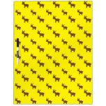 Cute yellow reindeer pattern dry erase whiteboards