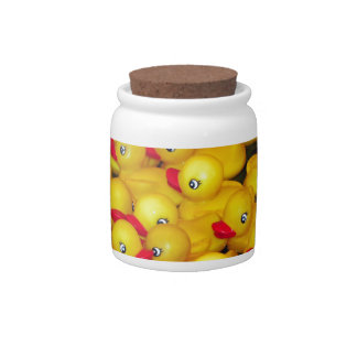 Cute yellow rubber duckies candy dishes