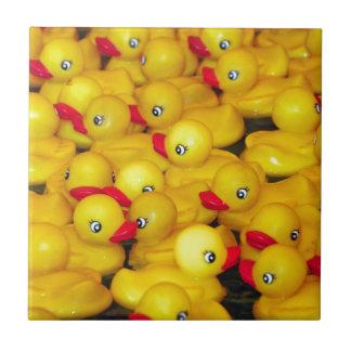 Cute yellow rubber duckies ceramic tile