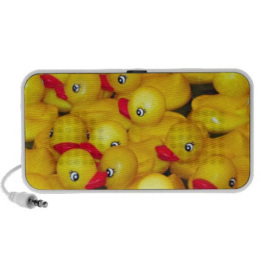 Cute yellow rubber duckies mp3 speakers