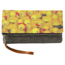 Cute yellow rubber duckies pattern clutch