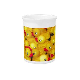 Cute yellow rubber duckies pitcher