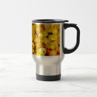 Cute yellow rubber duckies travel mug