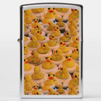 Cute Yellow Rubber Ducks Pattern Zippo Lighter