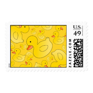 Cute yellow rubber ducks stamps