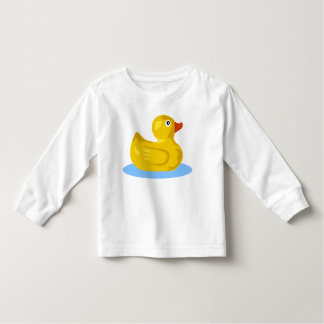 Cute Yellow Rubber Ducky Cartoon Duck Swimming T Shirt