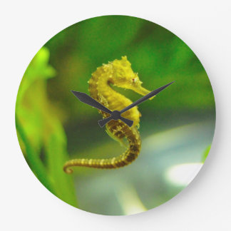 Cute Yellow Sea Horse Ocean Life Clock