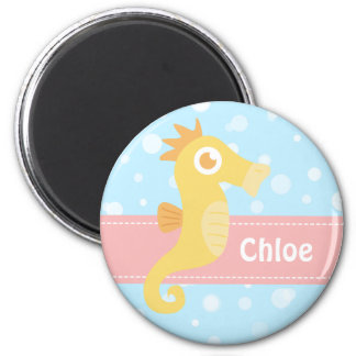 Cute Yellow Seahorse for Underwater Theme Magnet