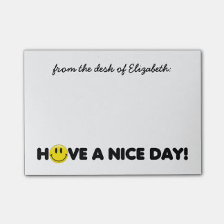 Cute Yellow Smiley Personalized Post-it® Notes