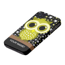 cute yellow spotted owl iPhone 4 Case-Mate case