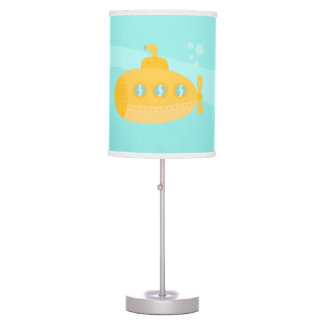 Cute Yellow Submarine, Underwater Bedroom Theme Table Lamp