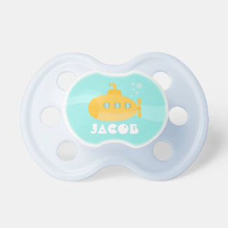 Cute Yellow Submarine, Underwater, For Babies Pacifier