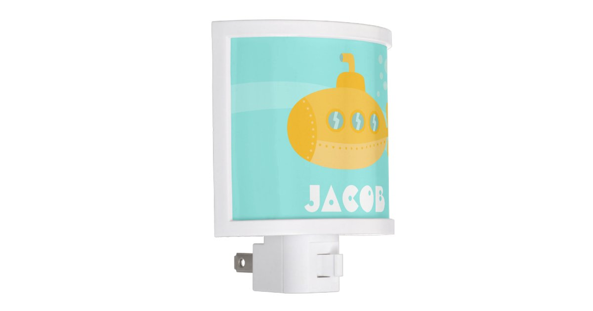 Cute Yellow Submarine Underwater For Boys Night Light