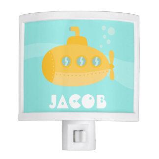 Cute Yellow Submarine, Underwater, For Boys Night Light