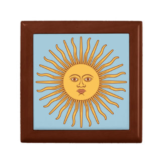 Cute Yellow Sun Wooden Keepsake Box