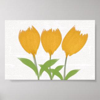 Cute Yellow Tulips  Nursery Wedding Poster
