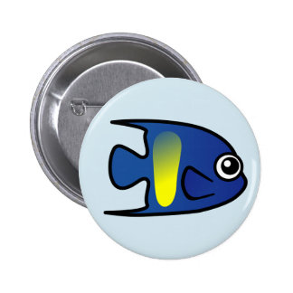 Cute Yellowbar Angelfish Pinback Button