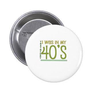 "Cute, ""Yesterday"" 50th Birthday Button"