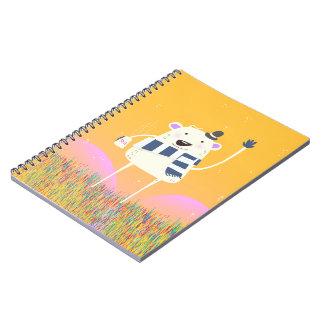 Cute Yeti With a nice hot mug of Tea Notebook