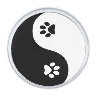 Cute Yin Yang Paws Lapel Pin