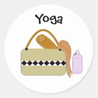Cute Yoga Gear Classic Round Sticker