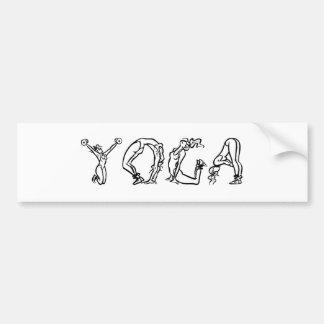 CUTE Yoga Poses! Bumper Sticker