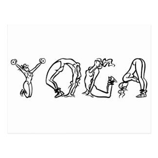 CUTE Yoga Poses! Post Card