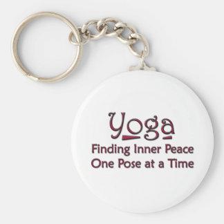Cute Yoga Saying Keychain