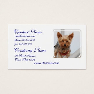 Cute Yorkie Business Card