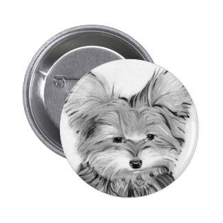 Cute Yorkie Dog Button / Badge