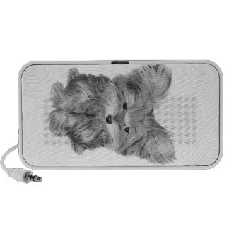 Cute Yorkie Dog Doodle Portable Speaker