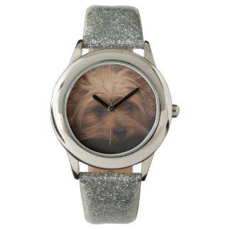 Cute Yorkie Glitter Watch