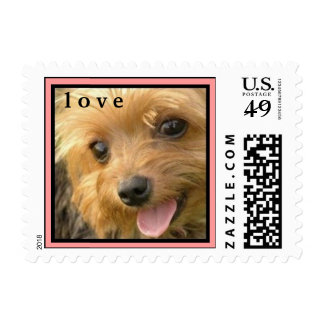 CUTE YORKIE ( I AM GIGI ) LOVE STAMP