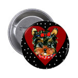 Cute Yorkie Poo 2 Inch Round Button
