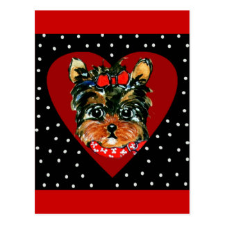 Cute Yorkie Poo Postcard