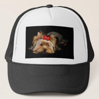 Cute yorkie trucker hat