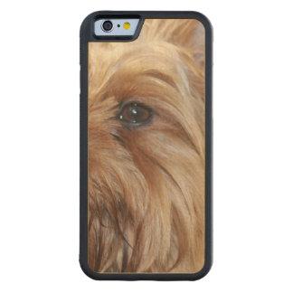 Cute Yorkie Carved® Maple iPhone 6 Bumper