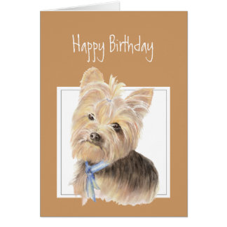 Cute Yorkie, Yorkshire Terrier, Dog, Pet Cards