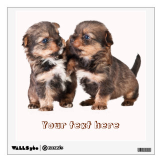Cute Yorkshire Puppies Wall Sticker