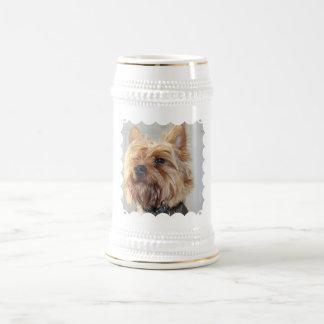 Cute Yorkshire Terrier Beer Stein 18 Oz Beer Stein